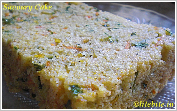 baked savoury cake