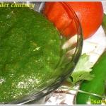 Fresh Coriander Chutney – A Healthy Spread