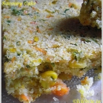 Savoury Vegetable Cake – Semolina & Veggies in a Bake