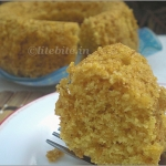 Lemony Cornmeal Eggless Cake