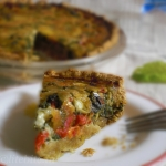 Oats & Wholewheat Eggless Vegetable Quiche
