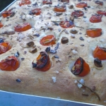 Garlic Focaccia – A Scrumptious Bread with Grape Tomatoes and Herbs