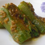 Peanut Butter Stuffed Okra and Ridge Gourd