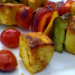 Grilled Cottage Cheese, Soya Chunks and Veggies in Spicy Yogurt – A Perfect Appetizer
