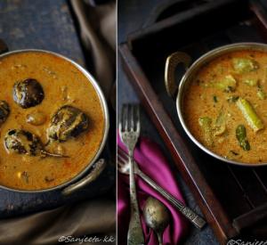 Recipes   Curried Green Pepper and Brinjal aka Mirchi and Baingan ka Salan