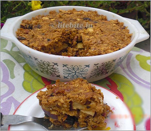 Muesli Crumble- a healthy dessert