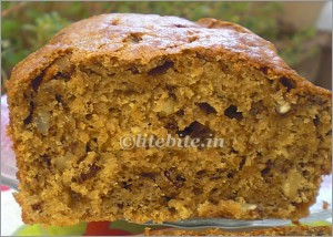 walnut & banana eggless cake