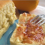 orange honey egg less bread