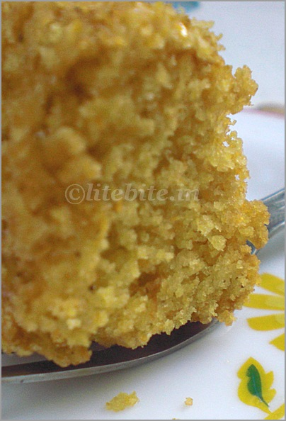 Cornmeal egg less cake