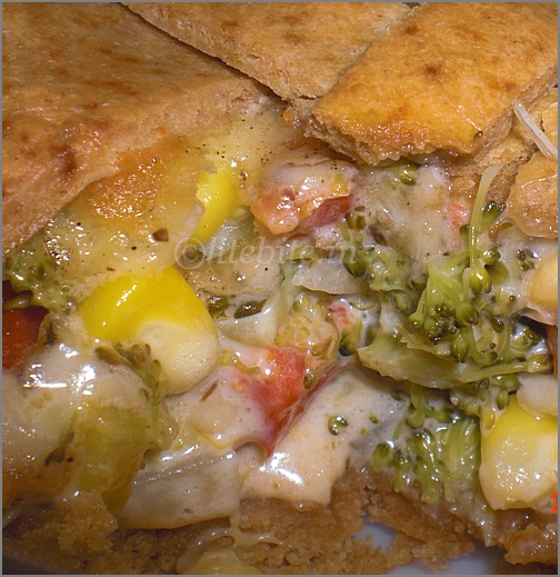 Healthy wholewheat veggie pot pie