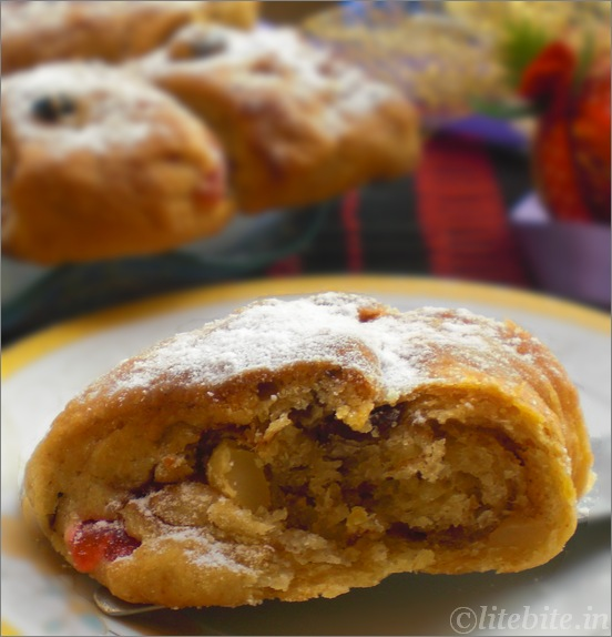 Stollen - An Egg less Tea Time Bread