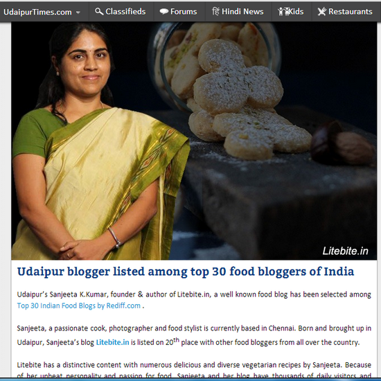 food blogger in India