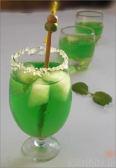 mint and orange lemonade