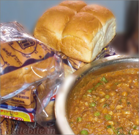Indian bread and veggie delicacy - paav Bhaji