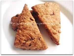 Eggless Raisins & chocolate breakfast scones