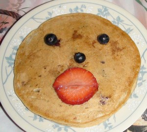 Wheat flour pancake