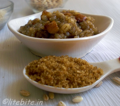 Healthy Barley dessert with Palm sugar
