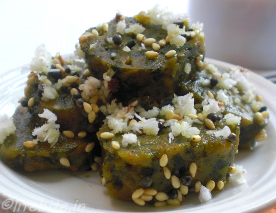 steamed spinach snack