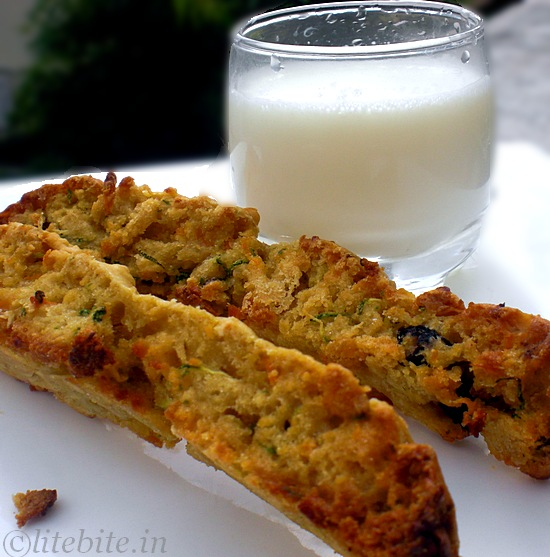 Zucchini & carrot wholewheat biscotti