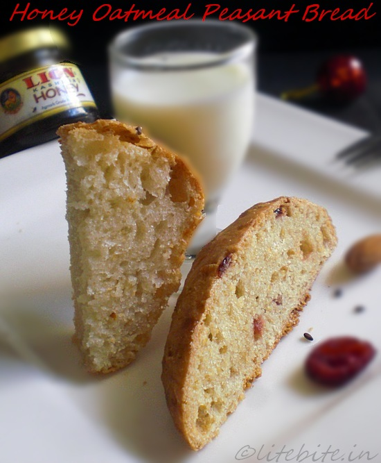 Honey oatmeal peasant bread