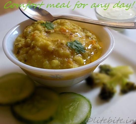 millet lentil and veggie khichdi