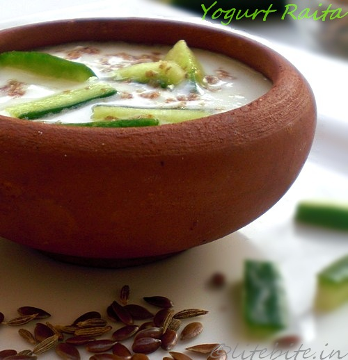 Flax seeds yogurt dip or Raita