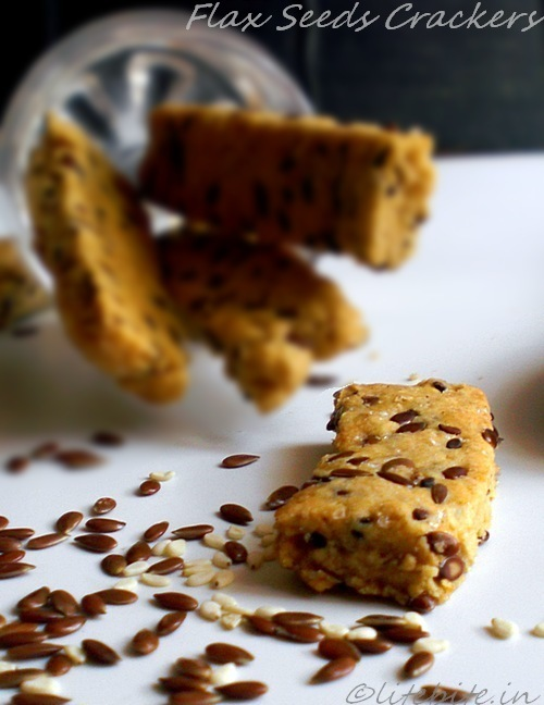 Healthy  flax seeds whole wheat crackers