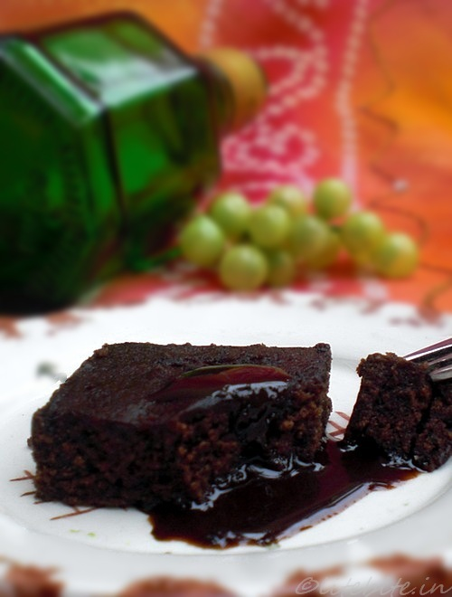 easy eggless cocoa brownie