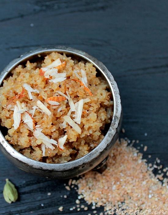Dessert | Orange Flavored Couscous with Passion Fruit Sauce