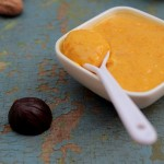 Eggless caramalized pumpkin pudding