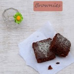 easy cocoa brownies, egg free