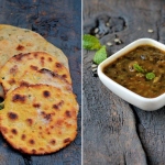 missi roti, potato kulcha and panchmel daal