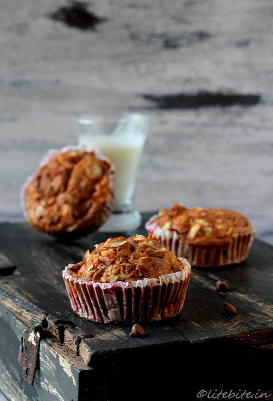 Three fruity  muffins