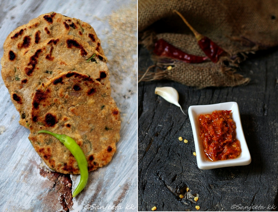 Recipes | Millet Flat-bread and Garlic Spread – The delightful world of food blogs