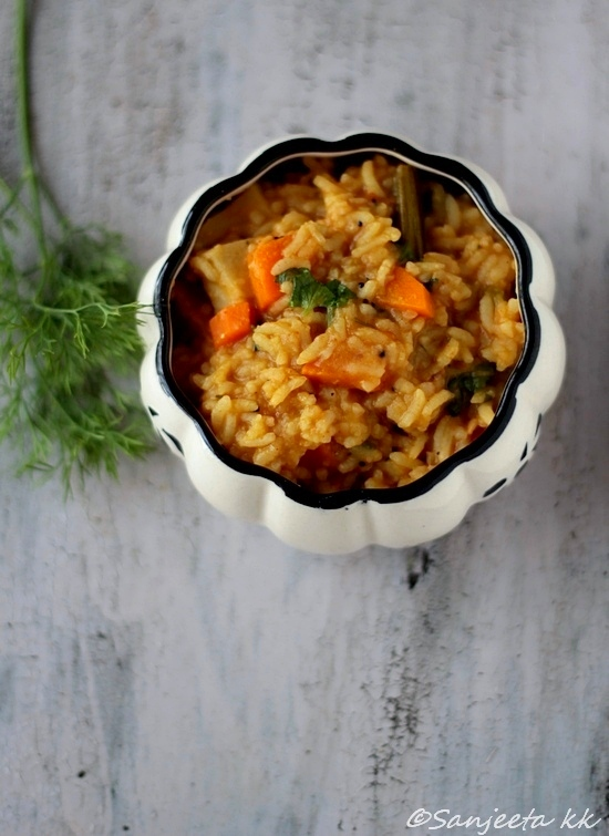 Healthy Bisi bhele bhat and quick rasam