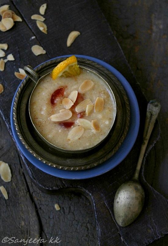 healthy indian festive desserts, firni and lapsi