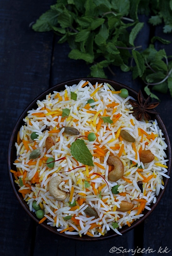 Orange scented Dry fruits Shahi Pulao
