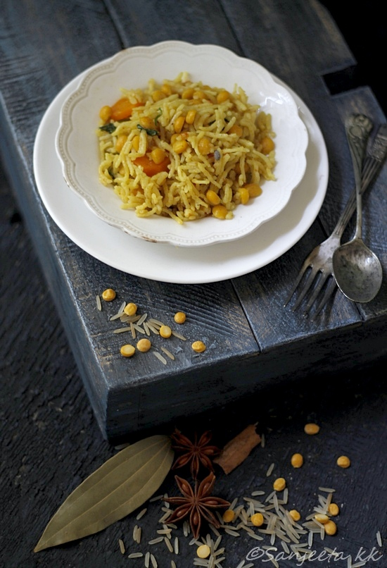 Recipe & Food Styling |Brown rice and lentil pilaf or Rajasthani channa dal pulao – Work is fun when your comfort levels are high