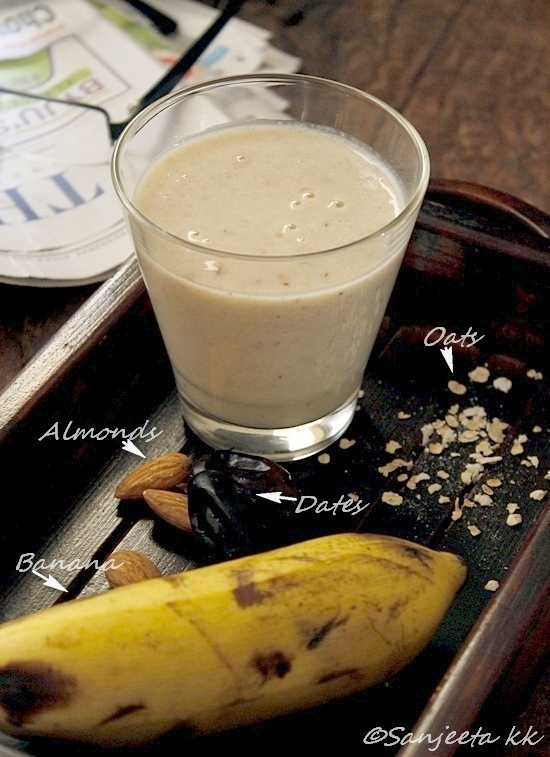Recipe & Food Styling | Oats-Banana Smoothie