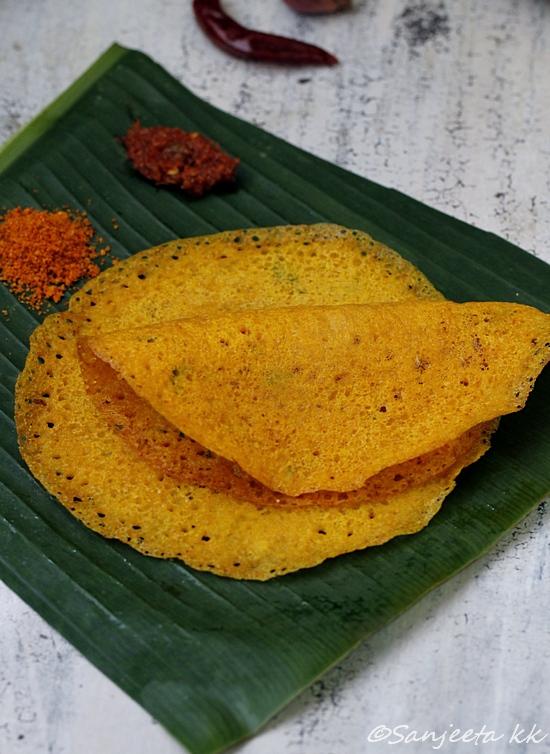 healthy millet crepes or adai recipe