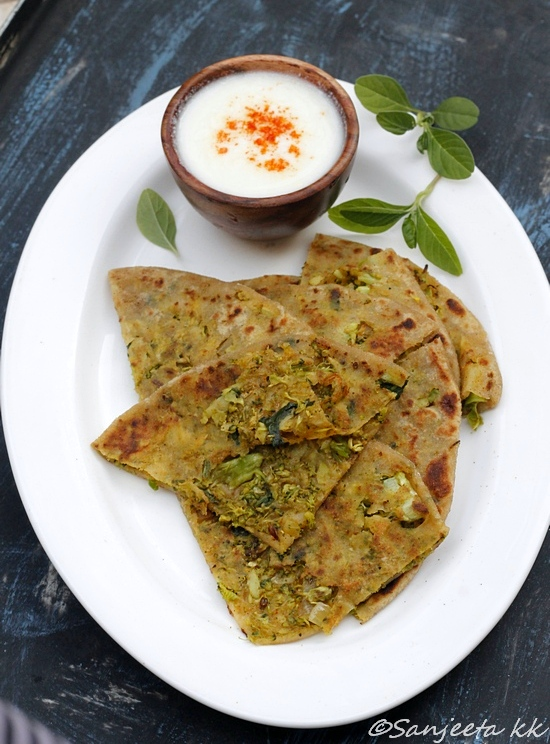 Recipe & Food Styling | Healthy Broccoli and Amaranth leaves Flat-breads